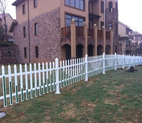 五大连池pvc草坪护栏-锌钢护栏